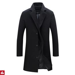 Drop Shipping New Arrival Wool & Blends Suit Design Wool Coat Men's Casual Trench Coat Design Slim Fit Office Suit Jackets Coat