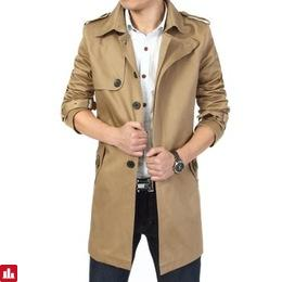 2018 Fashion outwear long coat men trench casaco masculino male clothing slim fit plus size Free shipping
