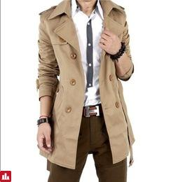 Autumn Trench Coat Men Double Breasted Trench Coat Men Outerwear Casual Coat Men's Jackets Windbreaker Mens Trench Coat
