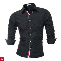 Brand 2018 Fashion Male Shirt Long-Sleeves Tops Solid Color High Quality Mens Dress Shirts Slim Men Shirt XXXL 9007