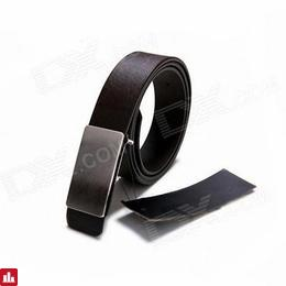 Men's Fashion PU+ Aluminum Alloy Waist Belt - Black