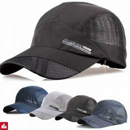Unisex Men Hat Thin Breathable Quick Dry Outdoor Sunshade Mesh Baseball Cap