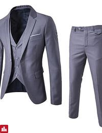 Men's Business Slim Suits - Solid