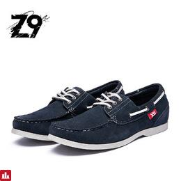 Top men boat shoes moccasin style comfortable summer flats cow suede handmade quality leather classic Three eyes lace-up shoes