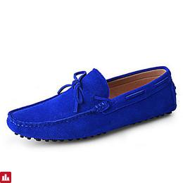 Men's Shoes Suede Spring / Summer / Fall Moccasin / Driving Shoes Boat Shoes Red / Royal Blue / Burgundy