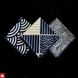 Mantieqingway High Quality Men's Cotton Handkerchiefs Navy Blue Floral Handmade Pocket Square Men Suit Geometric Pocket Square
