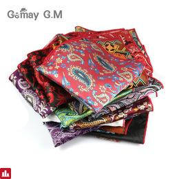 Cashew Floral Chest Towel Mens Pocket Square Formal Business Suit Wedding Handkerchiefs Men Pocket Hanky Polyester Handkerchief