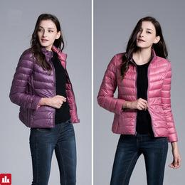 Winter Down Coat Women 90% Duck Down Jackets Ultra Light Women Coat Two Side Warm Jackets UHLULC