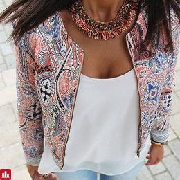 Fashion Women Floral Zipper Summer Casual Suit Short Jacket Coat Outwear Free shipping