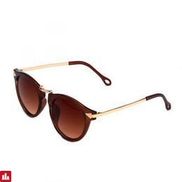 OUMILY Women's Retro UV400 Protection PC Lens Sunglasses - Tan