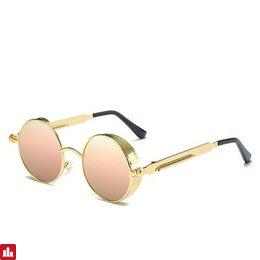 UV400 Vintage Steampunk Round Mirror Lens Sunglasses Outdoor Sport Hisper Eyewear For Man Women