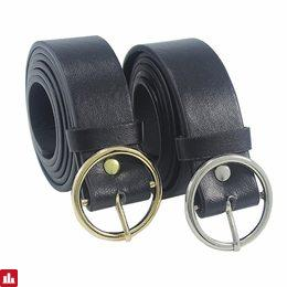 2017 Unisex Round Metal Circle Belts Hot Designer Brand Punk O Ring belt for Women