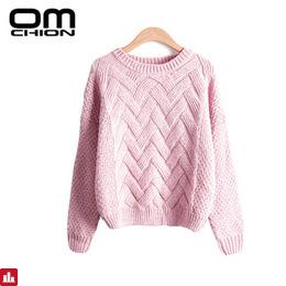 Pull Femme 2018 Autumn Winter Women Sweaters And Pullovers Plaid Thick Knitting Mohair Sweater Female Loose Variegated LMY12