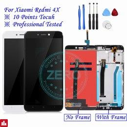 For Xiaomi Redmi 4X LCD Display with Frame Screen Touch Panel Redmi 4X LCD Display digitizer Frame Assembly Spare Repair Parts
