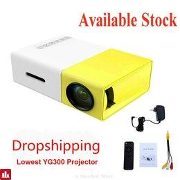 Original Dropshipping YG300 LED Portable Projector 500LM 3.5mm 320x240 HDMI USB YG-300 Mini Projector Home YG 300 Projector