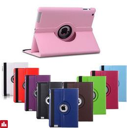 case For Apple ipad mini 1 mini 2 mini 3 Free shipping Pu Leather Rotating Case Smart Cover Stand  Wake up sleep case Tablet