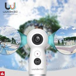 Wunder360 Panoramic Camera 360 4K UHD Dual-lens Video Camera Wifi Fisheye VR Action Cam Live Stream for Android & iOS Smartphone