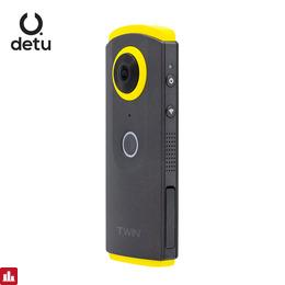 DETU Twin 360 Degree Video Camera 3K HD 360 VR Fisheye Lens Panoramic Camera WiFi Sports Action Video Camera for Android & iOS
