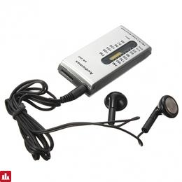 DC 1.5V Mini Portable AM/FM 2 Band Pocket Radio Receiver Earphone