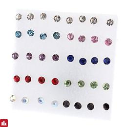 Women's Stud Earrings - Rhinestone Simple Style, Fashion Red / White For Party / Daily / Casual