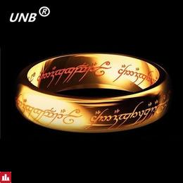 UNB 2017 Midi Stainless Steel One Ring of Power Gold the Lord of Ring Lovers Women Men Fashion Jewelry Wholesale Free Shipping