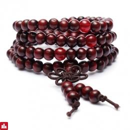 108Pcs Vintage Multilayer Sandalwood Buddhist Buddha Prayer Beads Bracelet for Men Women