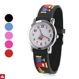 [$5.99] Children's Silicone Analog Quartz Wrist Watch (Multi-Colored) Cool Watches Unique Watches