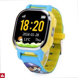 (EU Version) Tencent QQ Watch Smart GPS Tracker WiFi Locating Kids Wrist GSM Watch Phone Voice Chat SOS Alarm for Children Safe Security - Blue