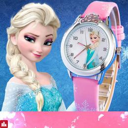 Children Watch Cartoon Princess Elsa For Girls Kids Watches Leather Quartz Child Clock Reloj mujer Relogio feminino Orologio