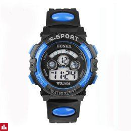 2018 Fashion Waterproof Children Kids Boy Watches Digital LED Quartz Alarm Date Sports Electronic Quartz Wrist Watch dropship