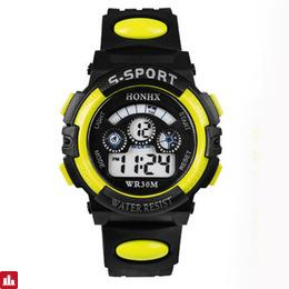 Attractive Waterproof Children Boy Digital LED Quartz Alarm Date Sports Wrist Watch Fashion And Smile Energy Watch
