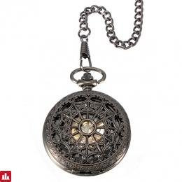 Vintage Men Steampunk Web Skeleton Mechanical Pocket Watch