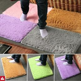 40x60cm Pleuche Non-slip Bedroom Rug Absorbent Dustproof Plush Bath Mat