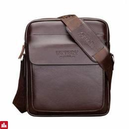 Mens PU Leather Business Shoulder Crossbody Bag Male Briefcase Package