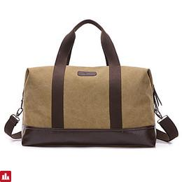 Men's Bags Canvas Travel Bag Zipper for Casual Sports Formal Outdoor All Seasons Black Gray Coffee Khaki