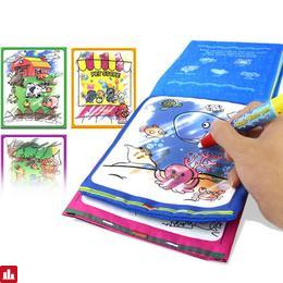 Magic Water Drawing Book Kids Animals Drawing Book with Magic Pen Baby Educational Doodle Painting Board Coloring Drawing Toys