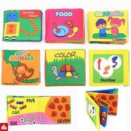 Intelligence Development Cloth Cognize English Hand Book Early Education Toy for Kid Baby