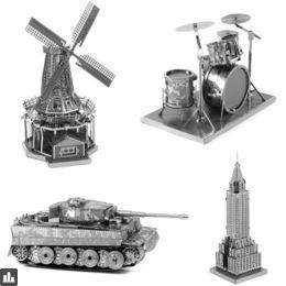 DIY Mini 3D Metal Puzzle World Famous Architectural Assembly Jigsaw Model Adult Education Children Stainless Steel Model Toys