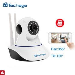 Techage Home Security 720P 1080P Wifi IP Camera Audio Record SD Card P2P HD CCTV Surveillance Wireless Camera Baby Monitor