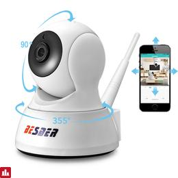 BESDER HD 720P Home Security IP Camera Two Way Audio Wireless Mini Camera 1MP IR Night Vision CCTV Camera Baby Monitor iCsee App