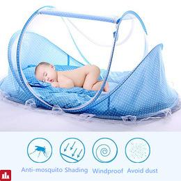 Yurts Baby Bed With Pillow Mat Set Portable Foldable Crib With Netting Newborn Cotton Sleep Travel Bed New Baby Crib 0-3 Years