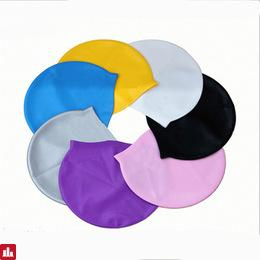 1 Piece Solid Swimming Cap 100% Silicone Swimming Hats Water-proof Adult Caps Men Women Children
