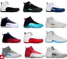 2017 air retro 12 XII basketball shoes ovo white Flu Game GS Barons wolf grey Gym red taxi playoffs gamma french blue sneaker