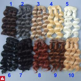 15cm curly wigs hair for doll  brown black color Hair Natural Color braided Wigs for BJD Doll