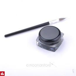 3Pcs Pro Eye Liner Gel Waterproof Black Eyeliner Cream Makeup Long Wear Eyeliner 3D Pen With Brush Make Up