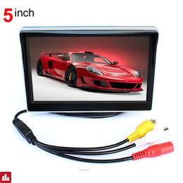 "5"" TFT LCD Car Rear View Mirror Monitor Parking Assistance With 2 RCA Video Player Input DC 12V Car Monitor For DVD Camera VCR"