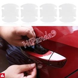 Universal 4Pcs Car Stickers Door Handle Protection Film Invisible Car Handle Scratches Automobile Shakes Car Protector Films