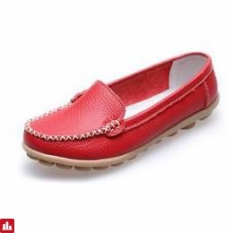Women Casual Flats Round Toe Loafers Soft Sole Slip On Flat Loafers