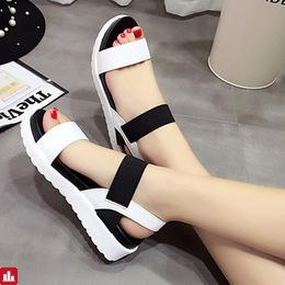Summer Sandals For Women New Shoes Peep-toe Sandalias Flat Shoes Roman Sandals Shoes Woman Mujer Ladies Flip Flops Footwear